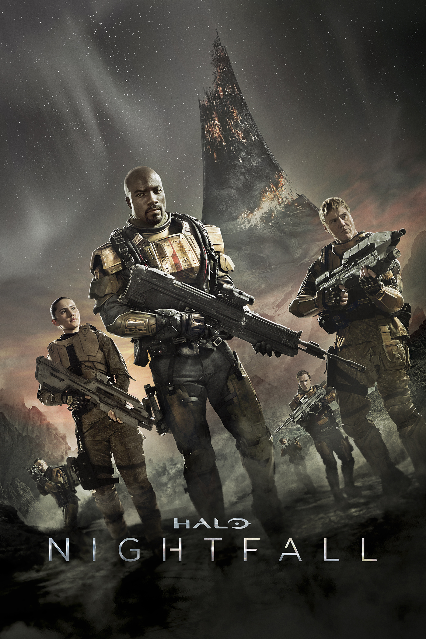 "cover design for ""Halo: Nightfall"""