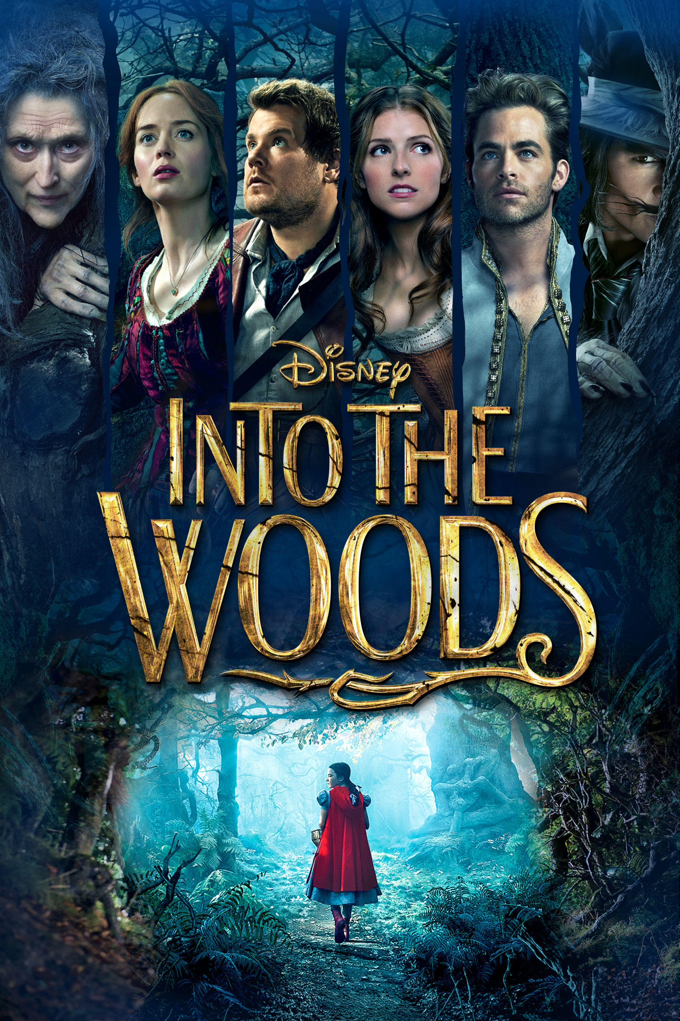 "cover design for ""Into The Woods"""