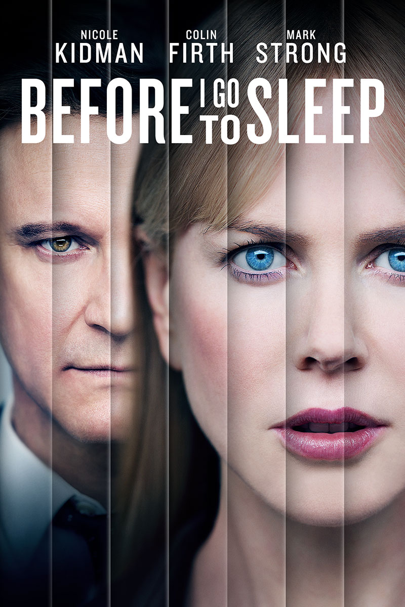 "cover design for ""Before I Go to Sleep"""