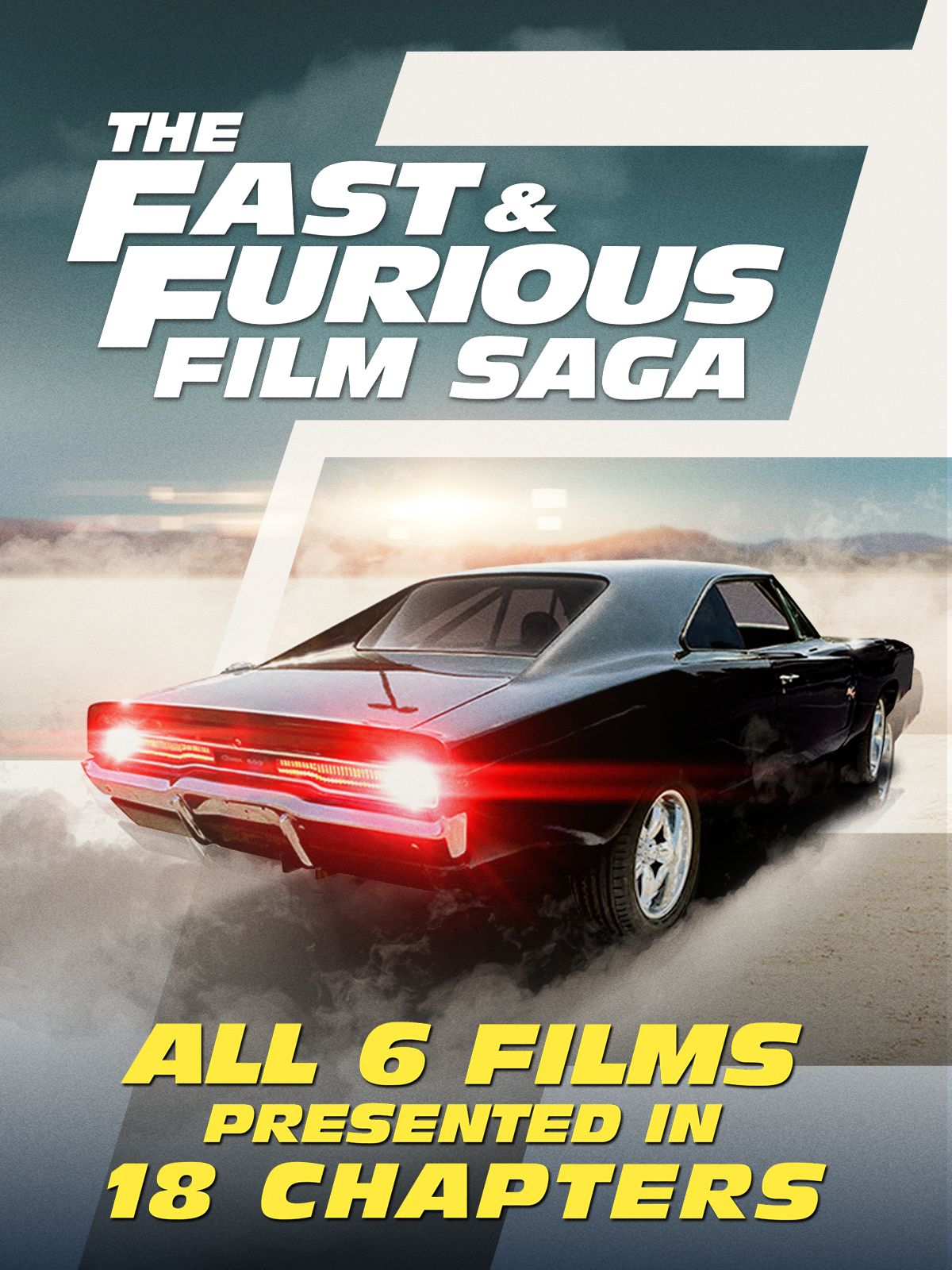"cover design for ""The Fast and Furious Saga"""